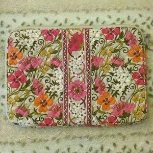 NWOT Vera Bradley Orange & Pink Floral Laptop Case